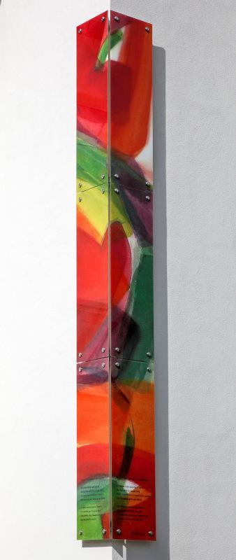 Eckverglasung in der Totalen - Südtirolersiedlung in Absam © Gestaltung Hilde Chistè © Aufnahme Dorfstterer