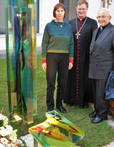 Hilde Chistè mit Bischof Dr. Scheuer und Altbischof Dr. Stecher © Gert Schlegl