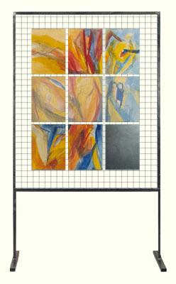 Himmelsfrau - Acryl auf Leinwand, Spiegel und Transparentpapier © Gestaltung Hilde Chistè © Aufnahme Dorfstetter