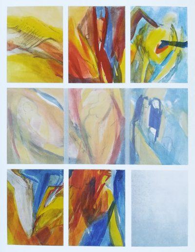 Himmelsfrau - Gesamtkunstwerk - Acryl auf Leinwand, Spiegel und Transparentpapier © Gestaltung Hilde Chistè © Aufnahme Dorfstetter