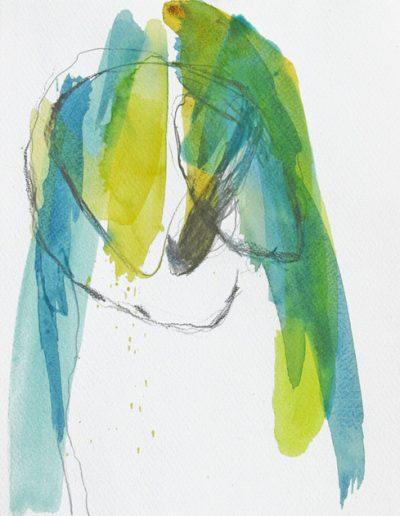 Kleine Formen des Wachsens I - Mischtechnik auf Papier © Hilde Chistè