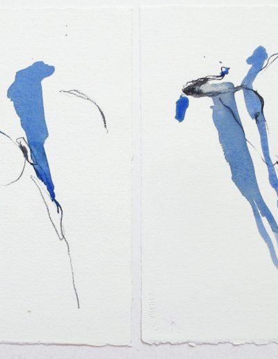 Kleine Formen des Wachsens III - Mischtechnik auf Papier © Hilde Chistè