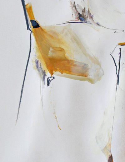 Komposition IV - Mischtechnik auf Papier © Hilde Chistè