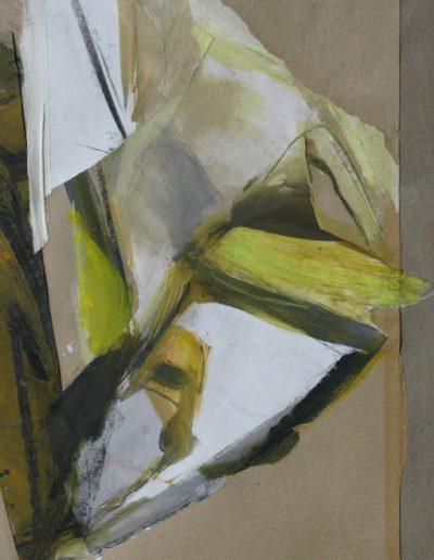 Komposition I - Mischtechnik auf Papier © Hilde Chistè
