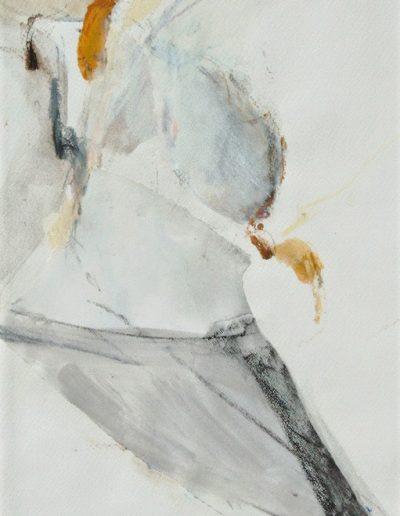 Komposition VII - Mischtechnik auf Papier © Hilde Chistè