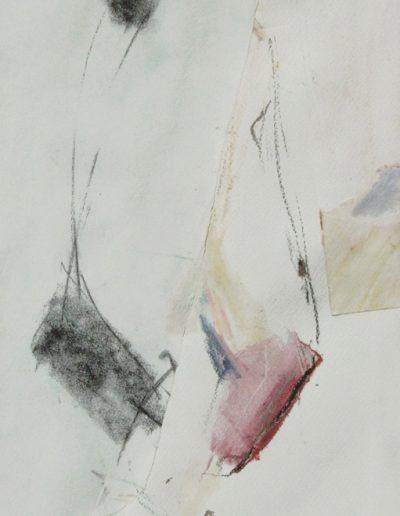 Komposition V - Mischtechnik auf Papier © Hilde Chistè