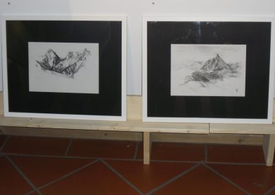 """Landschaftstudien von Hilde Chistè auf der Ausstellung """"Bilder der Freude"""", Aufnahme: © Hilde Chistè"""