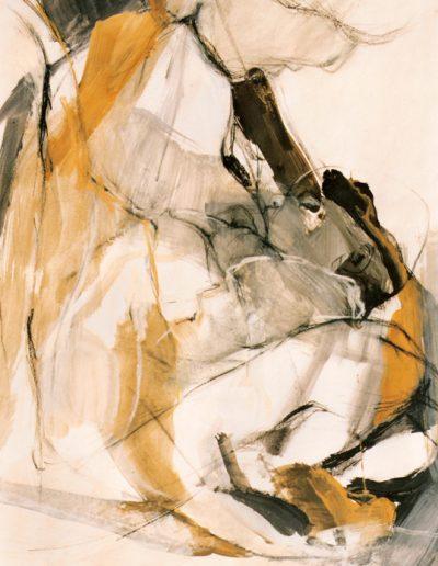 Stillende - Mischtechnik auf Papier © Hilde Chistè