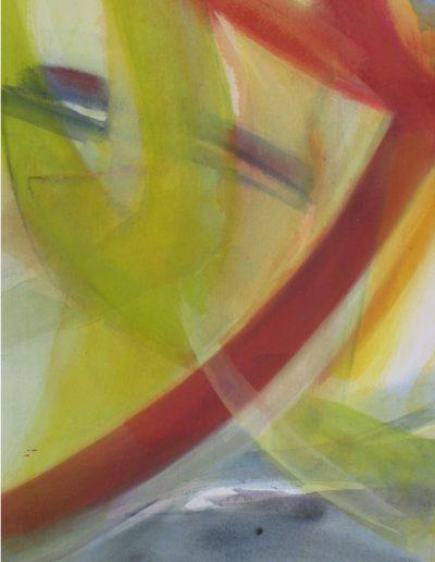 Die Dynamik des Rot - Acryl auf Leinwand © Hilde Chistè