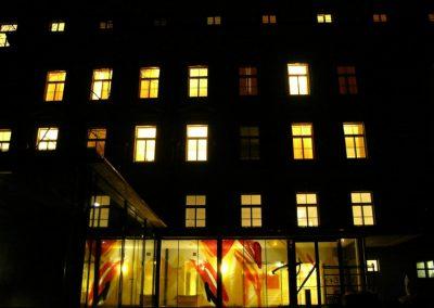Wohnheim Saggen Innsbruck - Außenansicht - © Gestaltung: Hilde Chistè, © Aufnahme: Architekt Nussbaumer