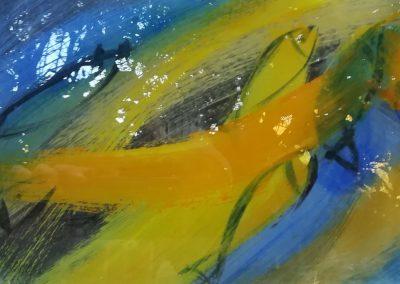 """Entstehung der Glasmalereien """"Vögel des Himmels""""© Hilde Chistè"""