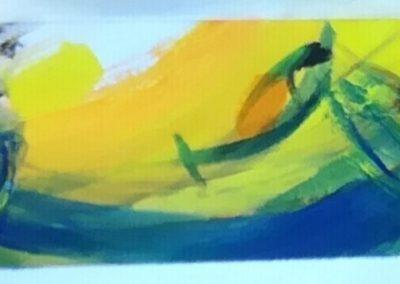 """Entwurf für die Glasmalereien """"Fische des Wassers"""" © Hilde Chistè"""