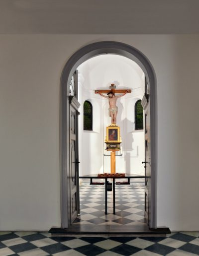 Kapellenportale am Landesfriedhof Mariahilf Innsbruck - Digitaldruck © Gestaltung Hilde Chistè © Aufnahme Klemens Jud