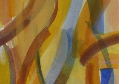 Bewegtheit der Sande und Wasser II - Acryl auf Leinwand © Hilde Chistè