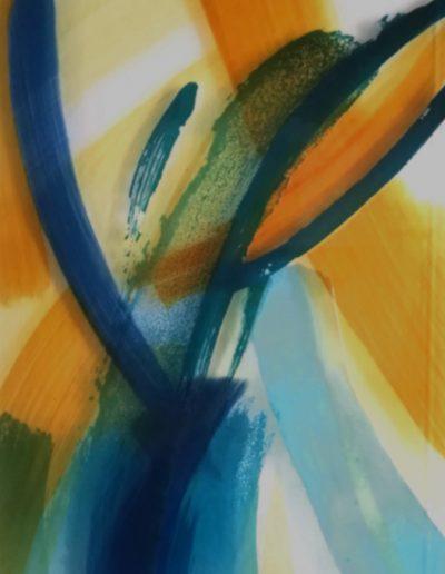 Glasbild - Glasmalerei mit partieller Ätzung © Hilde Chistè