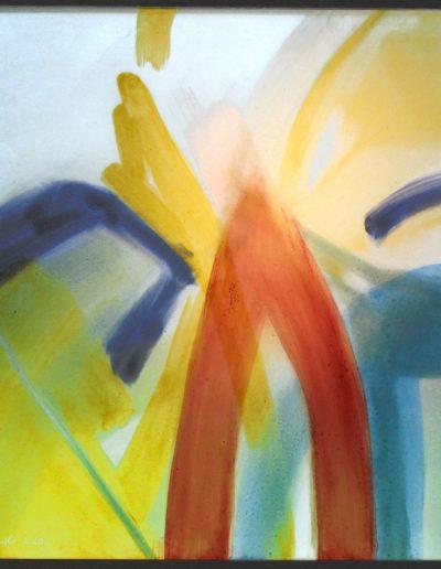 Kabinettscheibe - Glasmalerei mit partieller Mattierung © Hilde Chistè