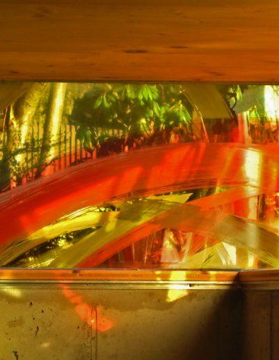 Oberlichtband - Innenansicht - Malerei mit keramischen Schmelzfarben © Hilde Chistè