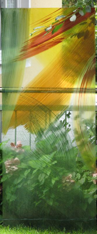 Stele 1 - Glasmalerei mit keramischen Schmelzfarben © Hilde Chistè
