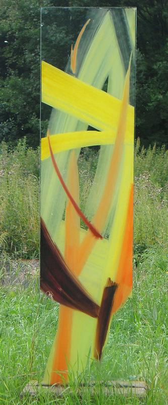 Stele 2 - Glasmalerei mit keramischen Schmelzfarben © Hilde Chistè